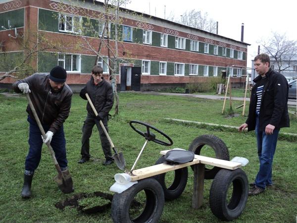 Оборудование на детские площадки своими руками